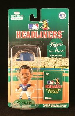 RAUL MONDESI / LOS ANGELES DODGERS * 3 INCH * 1996 MLB Headliners Baseball Collector Figure