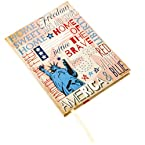 Red White and Blue Hardcover Journal