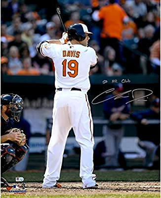 "Chris Davis Baltimore Orioles Autographed 16"" x 20"" Batting Stance Behind Photograph with 50 HR Club Inscription - Fanatics Authentic Certified"