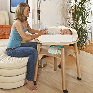 Babybay Babywok - Cambiador con colchón incluido, color blanco