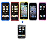 5 Pack Silicone Cases & Screen Protector for New Apple iPod Touch 2nd Generation 2G - 8GB 16GB 32GB - Star-E-Shop