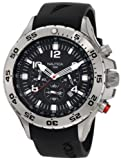 Nautica Mens N14536 NST Stainless Steel Watch with Black Resin Band