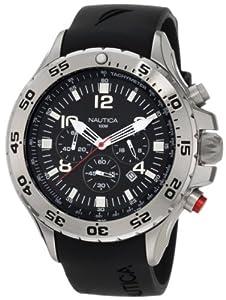 Nautica Men's N14536 NST Stainless Steel and Black Resin Watch