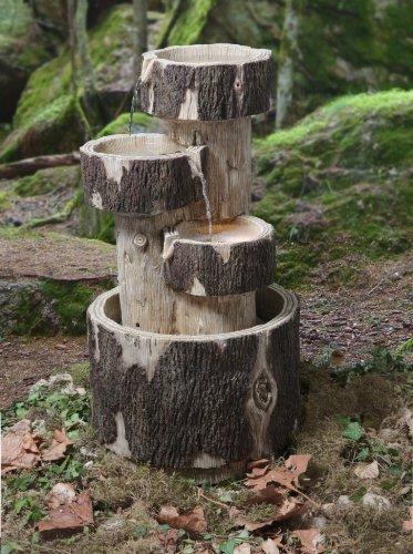 Fontaine d'Extérieur 3 Cascades Rondins - Lumière