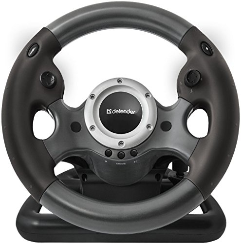 Defender Gaming Wheel Challenge Turbo GT USB 10 Buttons Gear Stick (Steering Wheel Controller For Pc compare prices)