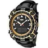 I By Invicta Men's 70970-002 Black Dial Black Leather Analog Digital Watch