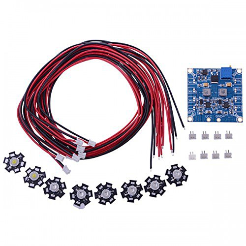 Elecs Rc Led Flashing Light/Night Light W/Led Board And Led Extension Wire For Octocopter (8 Pcs)