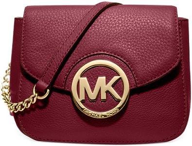 Michael Kors New Fulton Small Messenger Cinnabar Crossbody Leather Bag Handbag
