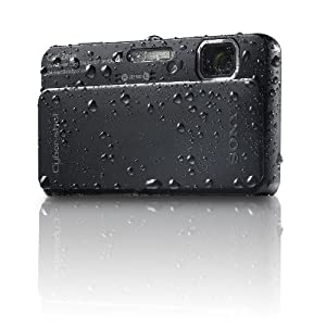 Sony Cyber-Shot DSC-TX10 16.2 MP Waterproof Digital Still Camera with Exmor R CMOS Sensor, 3D Sweep Panorama and Full HD 1080/60i Video (Black)