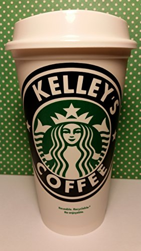 Personalized Reusable Starbucks Travel Coffee Tumbler (PERSONALIZE WITH ANY NAME)