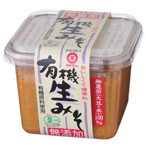 Organic raw miso (white) pesticide-free (soy, rice, salt) 100% use 500g (Miso Salt compare prices)