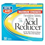 Rite Aid Acid Reducer, Famotidine tablets 20 mg 50 ea