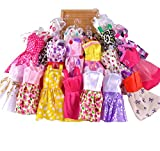 10 pcs Fashion Handmade Dresses outfit for Barbie Doll Toy (color random) by Lanlan