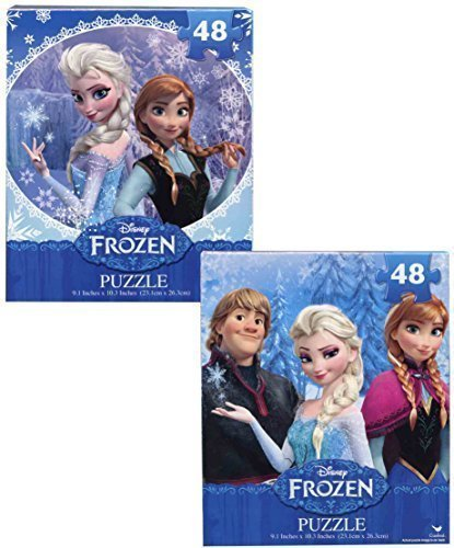 Disney Frozen 48 Piece Jigsaw Puzzle Set of 2 - Elsa, Anna, Kristoff and Olaf by Cardinal