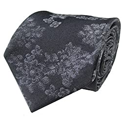 Rossini Men's Tie (UFAM62_Grey_Free Size)