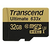 32 GB : Transcend 32 GB MicroSDHC Class 10 UHS-I/U3 Memory Card With Adapter 95 Mb/s (TS32GUSDU3)