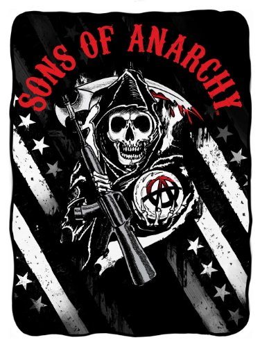 Sons Of Anarchy Logo With Stars Fleece