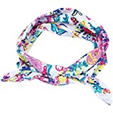 Chinatera Women Headband Floral Prints Cross Elastic Hair Band Accessory (Style A)