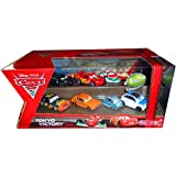 Disney Pixar CARS 2 TOKYO VICTORY Exclusive 7 pack set: FRANK CLUTCHENSON, DARREL CARTRIP, FRANCESCO BERNOULLI, LIGHTNING MCQUEEN W/ RACING WHEELS, LEWIS HAMILTON, PROFESSOR Z, GREM