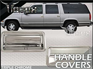 1988-1998 Chevy Silverado Chrome Door Handle Covers 2dr With Passenger Keyhole