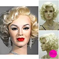 Hot Sale!Female Marilyn Monroe Glamorours Golden Short Wig 100% Kanekalon Fiber Synthetic women Wig/Hair High quality fashion lady Wig/Hair Limited time Special price!!!