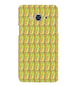 Triangle Shape Pattern 3D Hard Polycarbonate Designer Back Case Cover for Samsung Galaxy J3 Pro