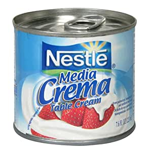 Nestle Media Crema Table Cream, 7.6-Ounce Containers (Pack of 24
