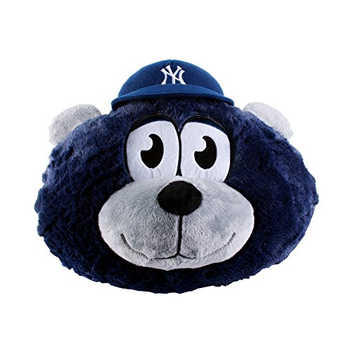 MLB New York Yankees Nogginz Plush Toy, Medium, Blue - 1
