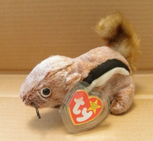 TY Beanie Babies Chipper the Chipmunk Stuffed Animal Plush Toy - 7 inches long - 1