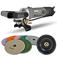 Hardin HWVPOLSET Variable Speed Polisher 4 Inch Granite Marble Wet Polishing Kit with Diamond Pads by Secco International, Inc