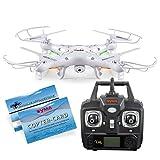SYMA X5C Quadrocopter Drohne Weiß 2,4Ghz mit HD Kamera 3D Fernbedienung + Ersatzakku
