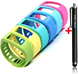 Smart Tech Store 6PCS Set Gree, Yellow, Pink, Light Blue, Teal and Blue Replacement Band With Clasp for Garmin Vivofit Only /No tracker/ Wireless Activity Bracelet Sport Wrist band Garmin Vivo fit Bracelet Sport Arm Band Armband