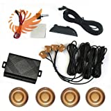 51cKwgOCZmL. SL160  4 Parking Sensors Car Reverse Backup Radar Sound Alert Buzzer Security yellow