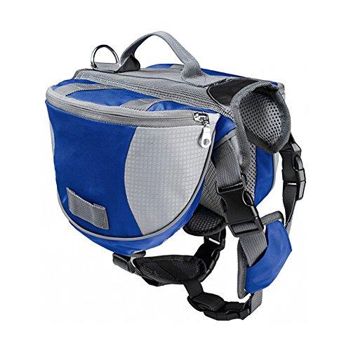 Artikelbild: Haustier Rucksack - TOOGOO(R) Haustier Rucksack Hund Satteltasche mittel und gross Hunde Harness Tasche Ideal fuer Outdoor Wandern Camping Trainings-M blau