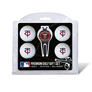 MLB Minnesota Twins 4 Ball Gift Set, Navy by Team Golf