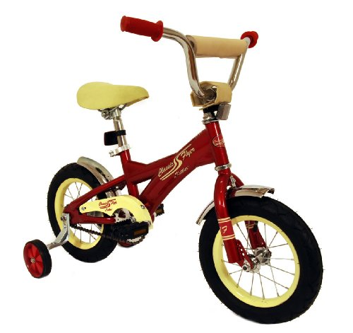 Classic Flyer By Kettler Kid'S Retro Bike, 12-Inch, Red