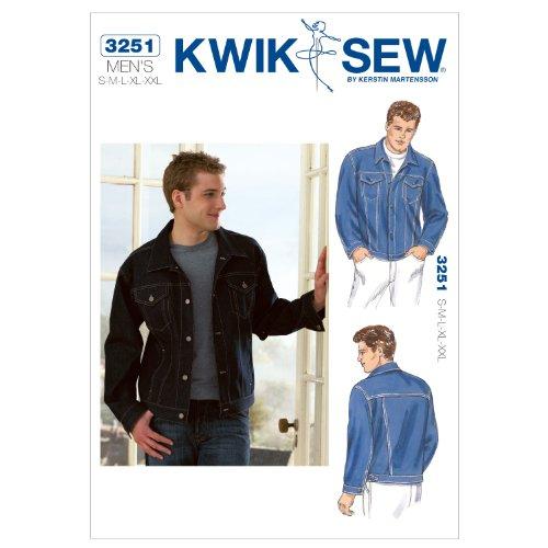 Special Offers Kwik Sew K3251 Jean Jacket Sewing Pattern, Size S-M-L ...