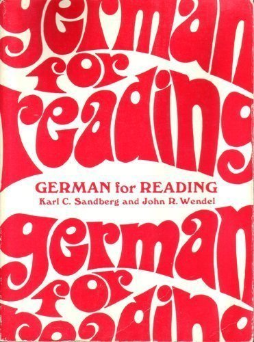 German for Reading; A Programmed Approach for Graduate and Undergraduate Reading Courses