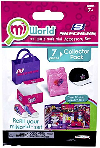 miWorld Mall Sketchers Accessory Set Collector's Pack - Twinkle Toes Shoes, Shirt and Hat - 1