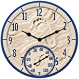 Springfield Clock With Thermometer Indoor/Outdoor 14