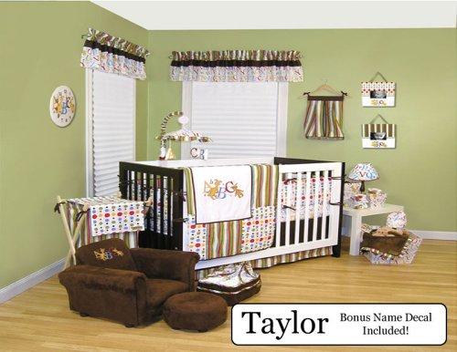 Trend Lab Baby Nursery Bedding Ensemble Set Plus Personalized Name Decal, Dr. Seuss Abc, 8Pc Set front-476863