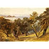 Corfu, by Edward Lear (V&A Custom Print)