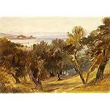 Corfu, by Edward Lear (V&A Custom Print)