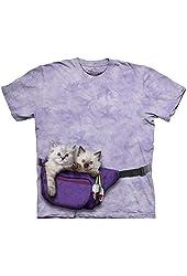The Mountain Adult 100% Cotton Fanny Pack Kitten T-Shirt (Purple)