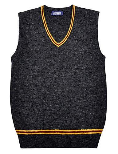 ZY/ Harry Potter Grifondoro Srytherin Corvonero strisce di lana acrilico maglia Cosplay Abiti Maglione School Uniform , gold-xl , gold-xl