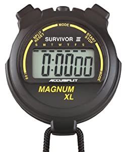 ACCUSPLIT Survivor Stopwatch with Clock and Extra-Large Display by ACCUSPLIT