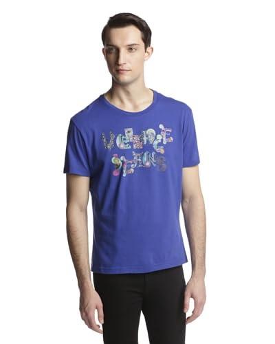 Versace Jeans Men's Logo Graphic Short Sleeve Crew Neck Tee Shirt