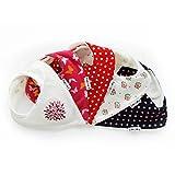 Packung mit 5 Lovjoy Mädchen Lätzchen (schön Baumblüte)