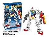 GRHOSE New LOZ Diamond Block I Robots Gundam D Series 17cm 440pcs #9350 Parent-child Games Building Blocks Children's Educational Toys
