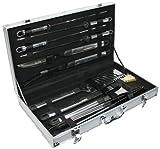 Grill Barbeque-Set im Koffer 10tlg., sehr exclusives Design, im hochwertigem Alukoffer, sehr schwere Qualität